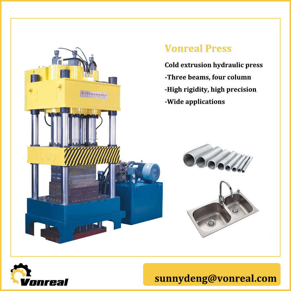 Hydraulic Extrusion Press for Automobile Components Forming