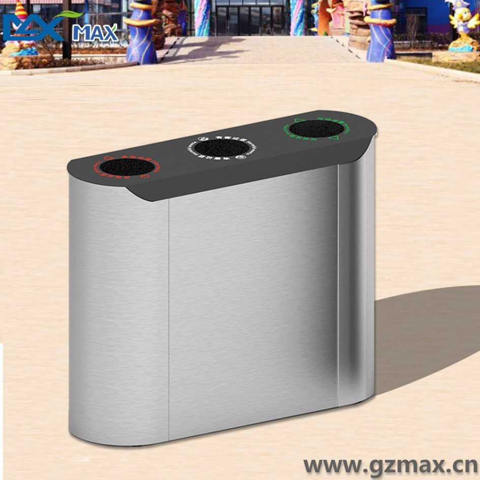 Max Indoor Double Layer Public Recycling Waste Bin for Hotel Lobby Use