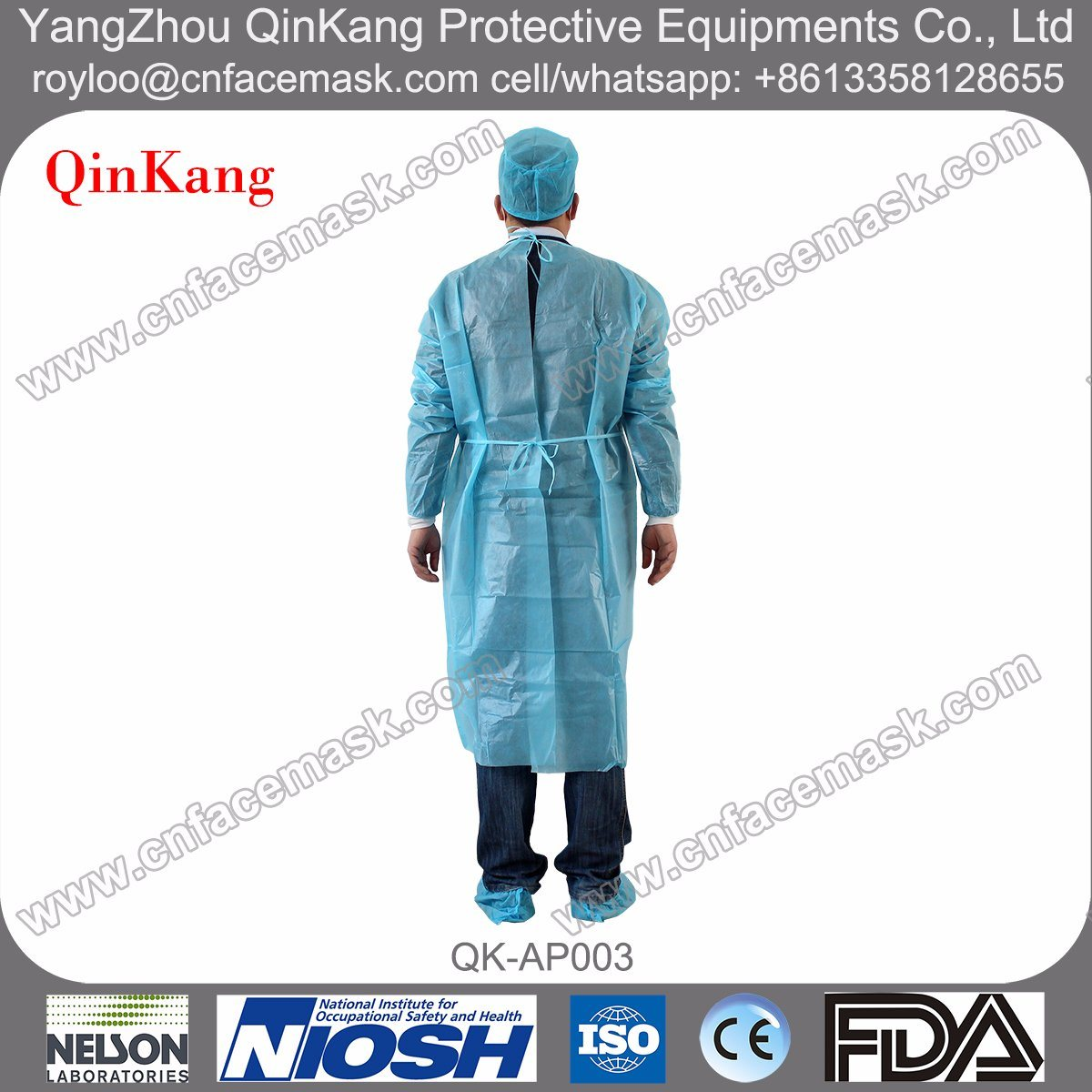 Disposable Hospital SMS Isolation Gown
