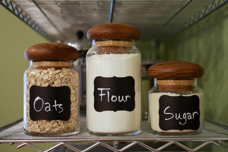 Vinyl Chalk Adhesive Sticker Reusable Label Sticker for Kitchen Furniture Jar Labels