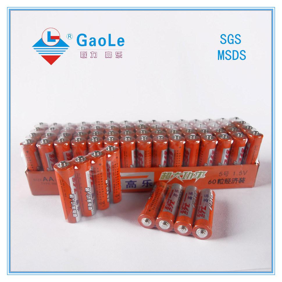 Hot Sale Um-3 Carbon Zinc Battery R06 AA Size
