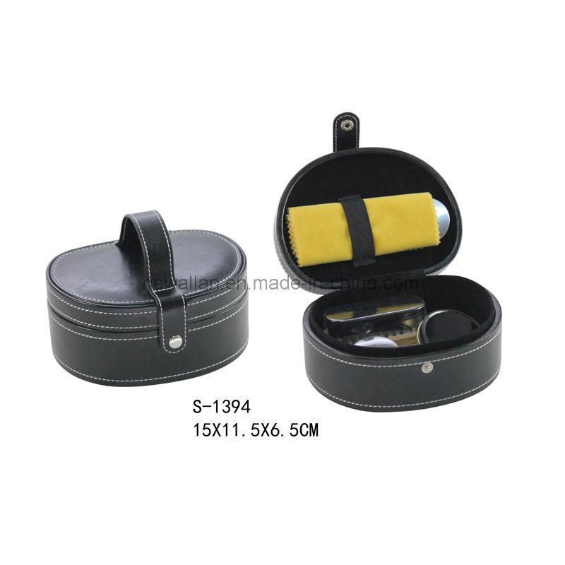 Classic Black Leather 5PCS Shoe Polish Tools Travel Shoe Care Set Shoe Shine Kit