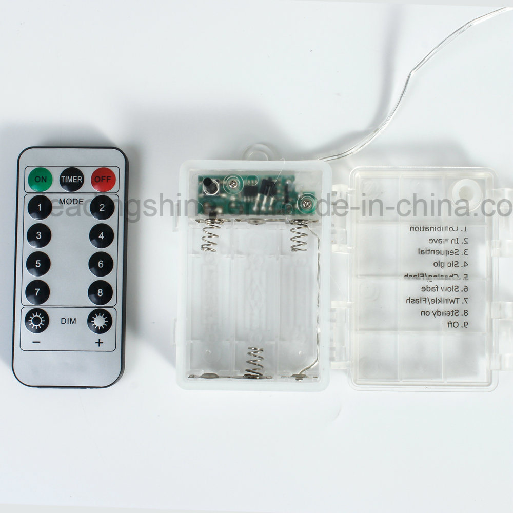 Remote Waterproof Timer Flashing Copper Wire Starry String Light