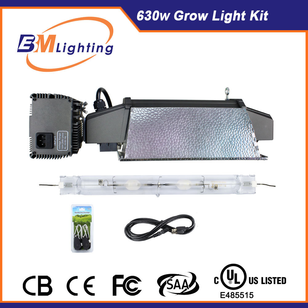Hydroponics Growing Systems 630W CMH Double Ended 1000 Watt HPS De HID Grow Light Kits with UL Approve