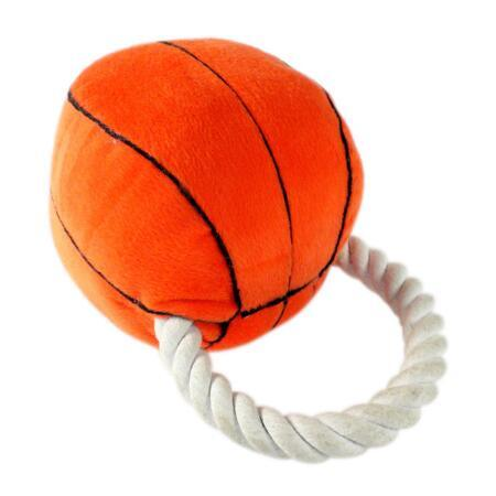 Pet Plush Toy Basketball Style Dog Rope Toy (KB0025)