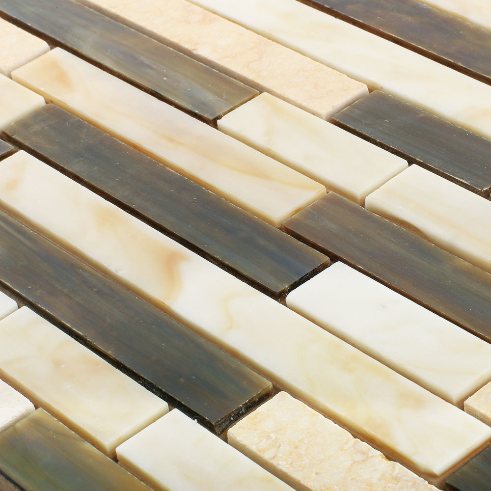 Hand Cut Eco-Friendly Material Kitchen Glass Mosaic Sheet Wall Tiles