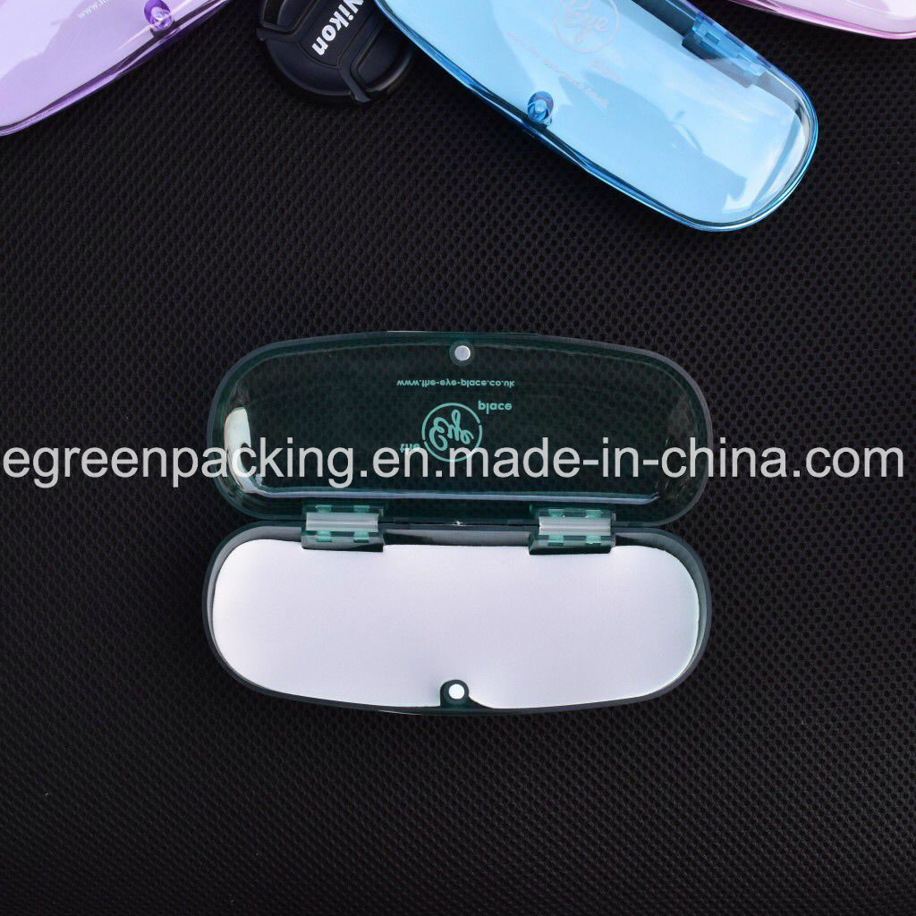 Most Popular Multi Color Transparent Magnetic Plastic Eyeglasses Case (PCZ7)