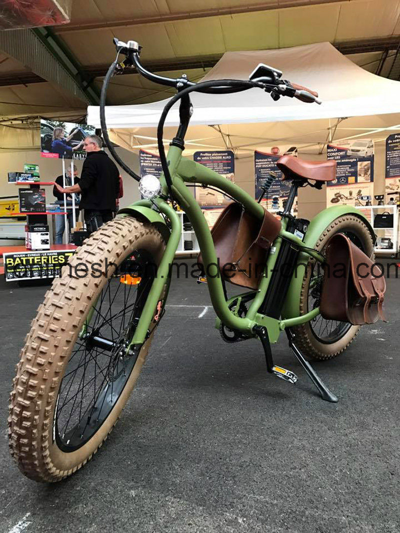 Beach Cruise Classic/Vintage/Retro 250W/500W 26X4 Electric Fat Tyre Bike/E Fat Tire Bicycle/Electric Snow Bike/E Fatty Bicycle/E Sand Bike/E Fatty Tire Bike Ce