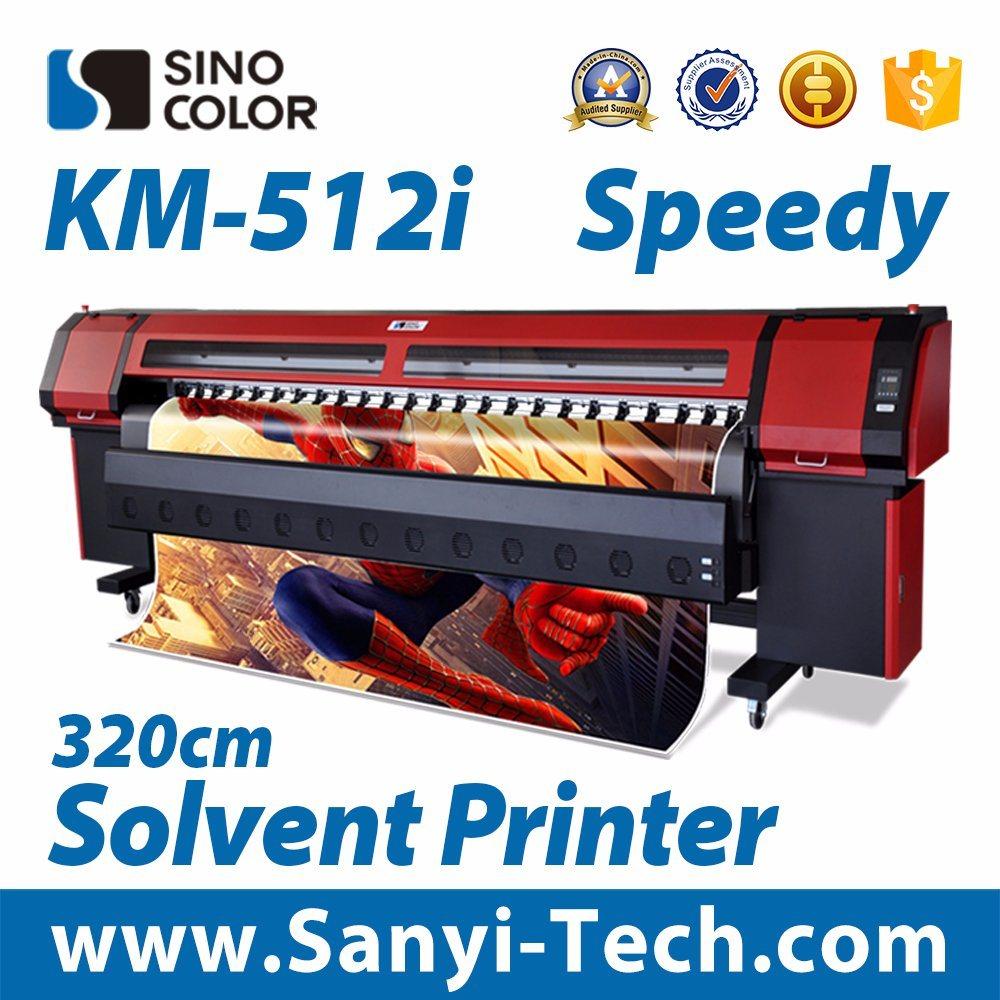Inkjet Solvent Printer Sinocolorkm-512I Outdoor Printer Digital Printing Machine Large Format Printer Solvent Printer Plotter Printer Printing Machinery