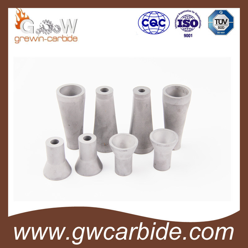 Tungsten Carbide Liner Nozzle with Steel Jacket and Threads