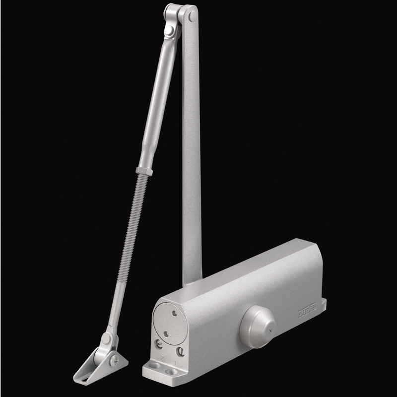 Heavy Duty Alluminum Adjustable Door Closer 100-150kg Capacity
