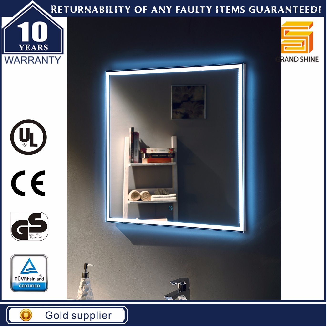 IP44 LED Vanity Bathroom LED Mirror