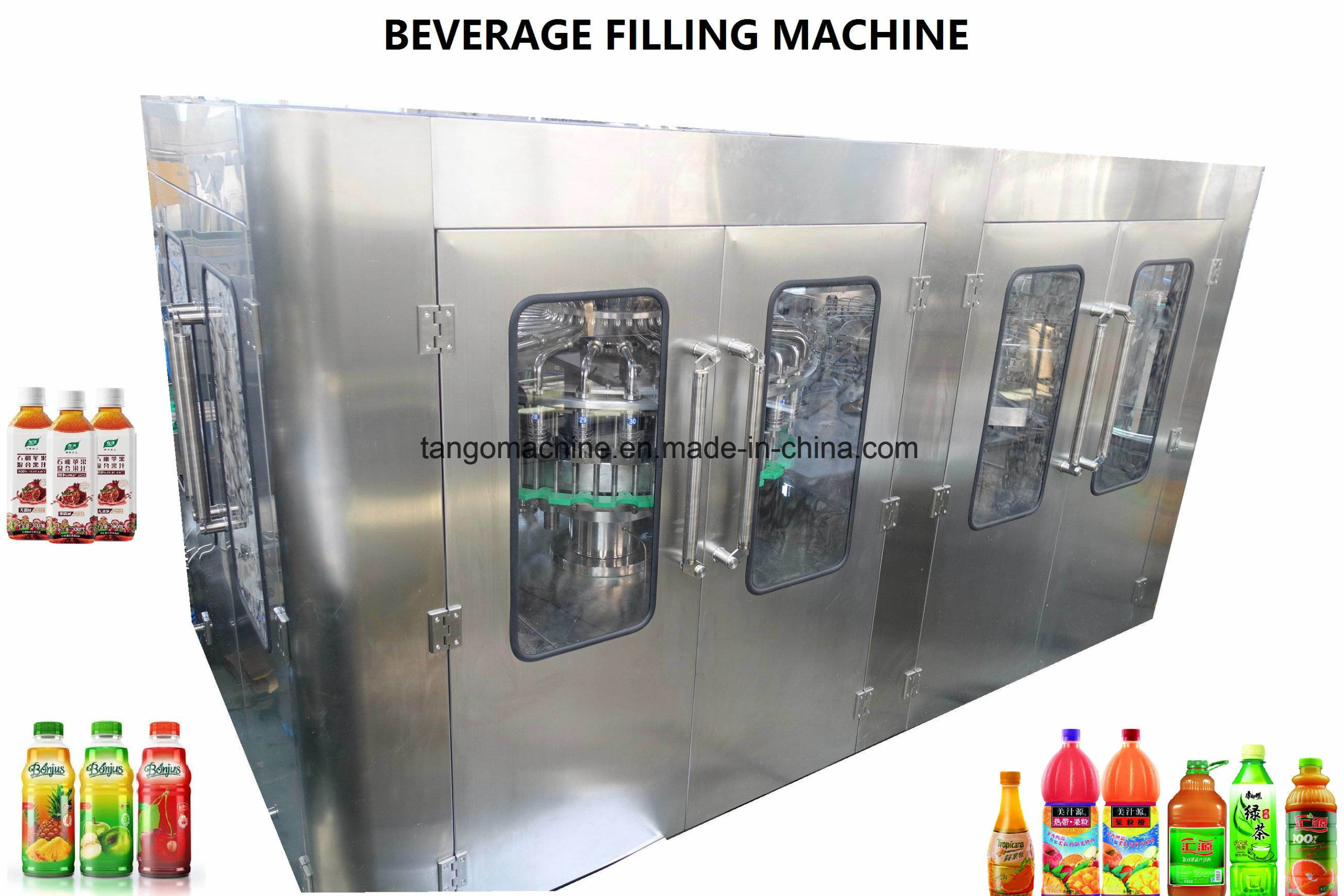 Complete Automatic Hot Liquid Fruit Juice Bottling Plant for Orange Mango Apple Pineapple