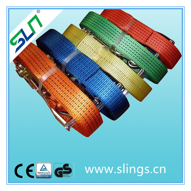 China Made Polyester Lifting Sling with Double J Hook