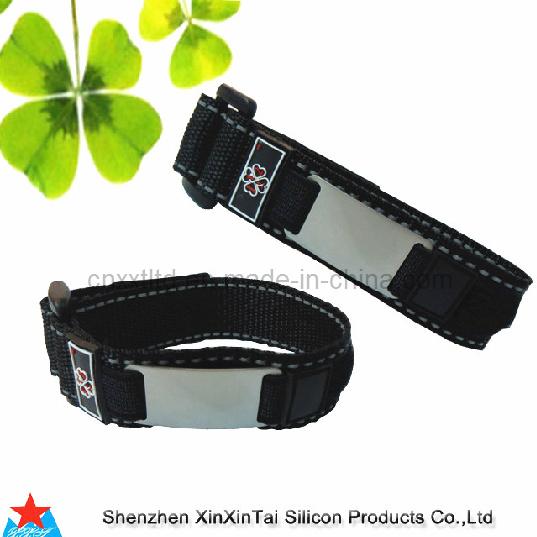 Bracelet d 39 identification de poignet de velcro xxt 10123 for Poignet de porte en anglais