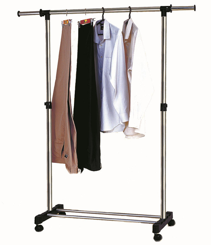 China Diy Extendable Single Rod Metal Chrome Clothes Hanger Rack Cj B1123 Photos Amp Pictures