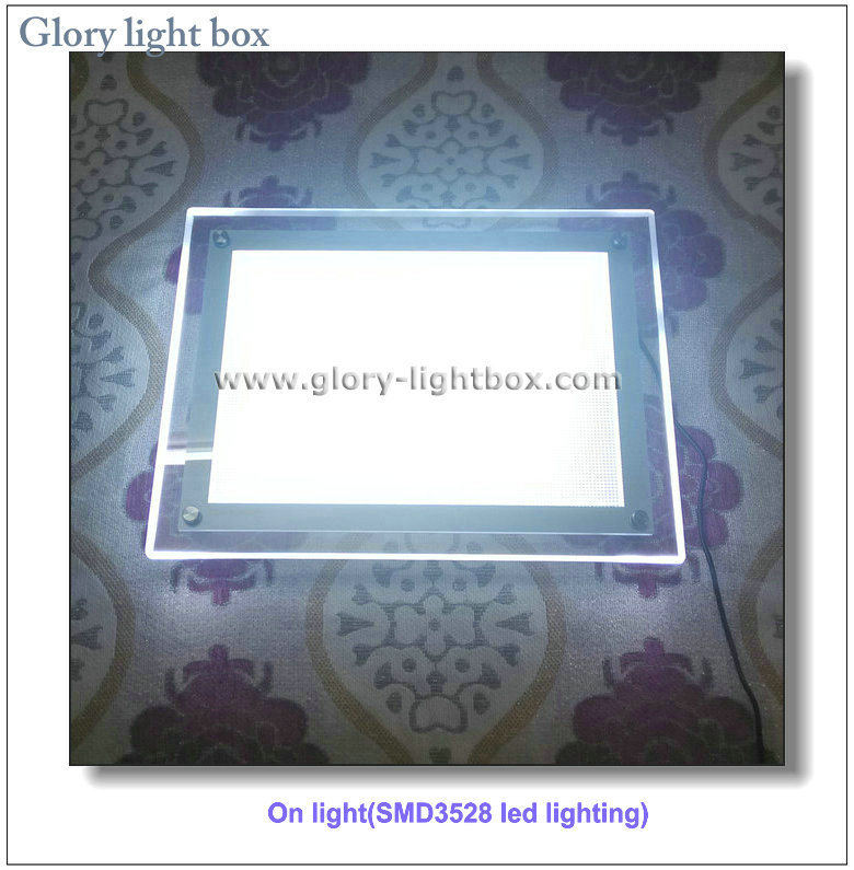 CE Approved Ceiling Hanging Crystal LED Light Box Sign