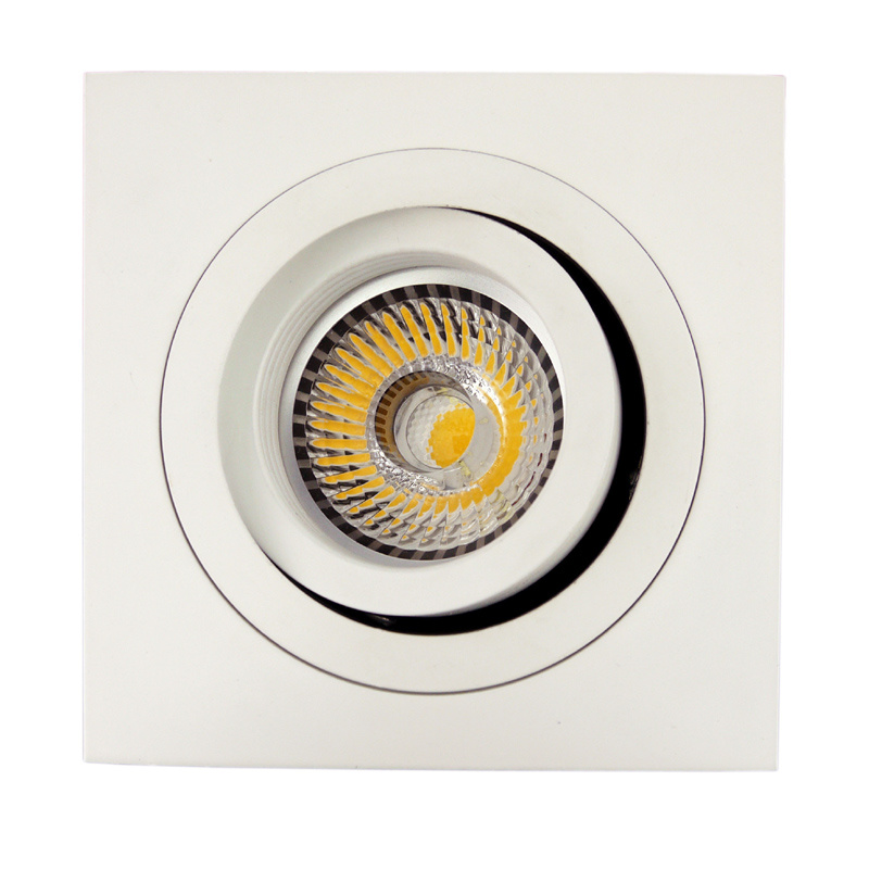 Lathe Aluminum GU10 MR16 Square Tilt Recessed LED Downlight (LT2303B)