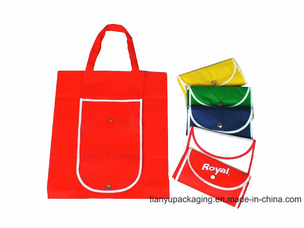 Manufacture Eco Reusable Colorful Foldable Non Woven Bag