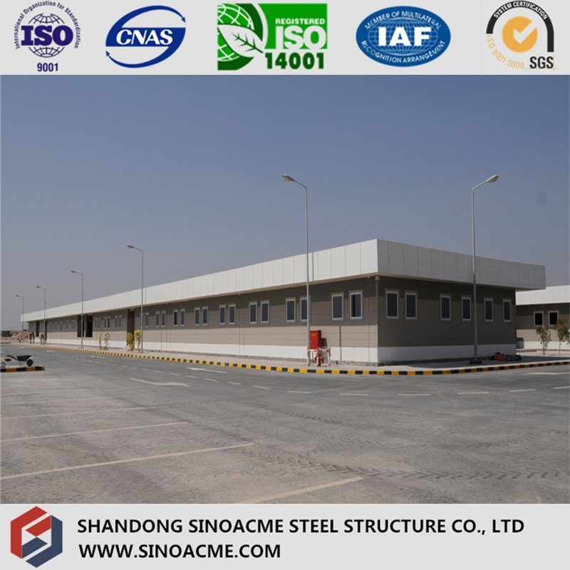 Multi Span Steel Structure Workshop with Parapet
