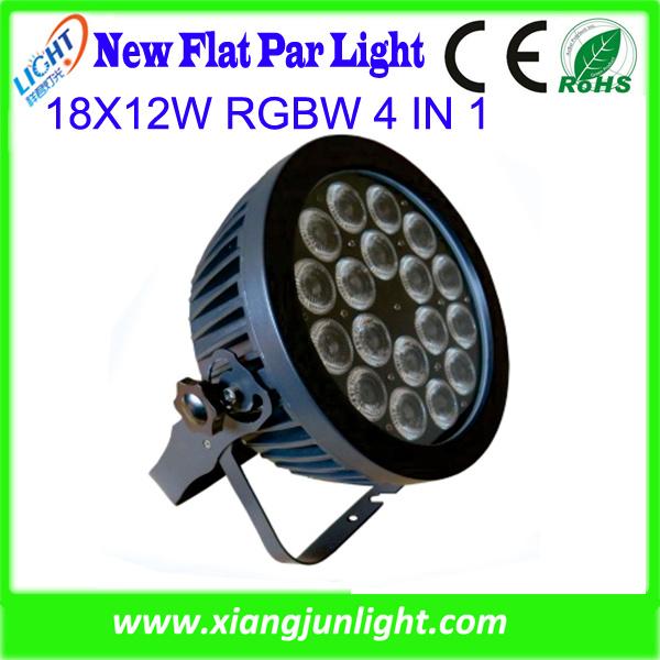18 X 12W RGBW 4 in 1 Flat LED PAR Light