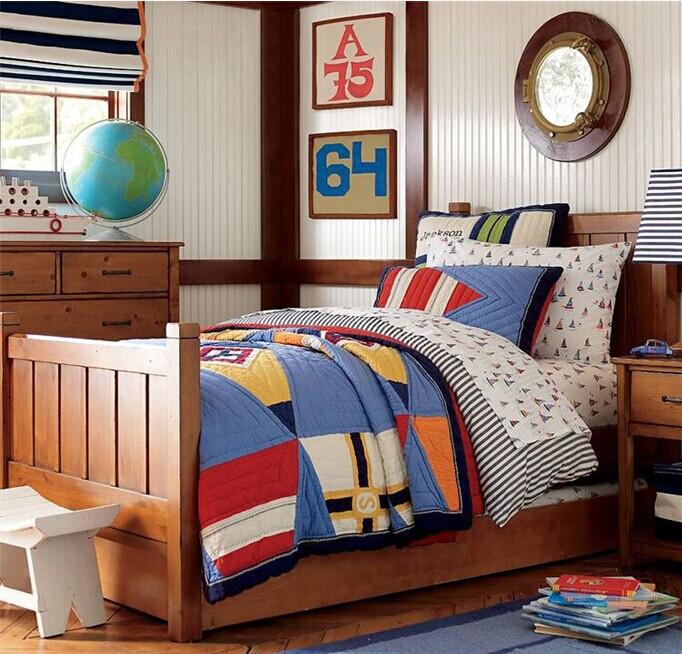 Wood Children Bed Children Cots European Style Bed (M-X1037)