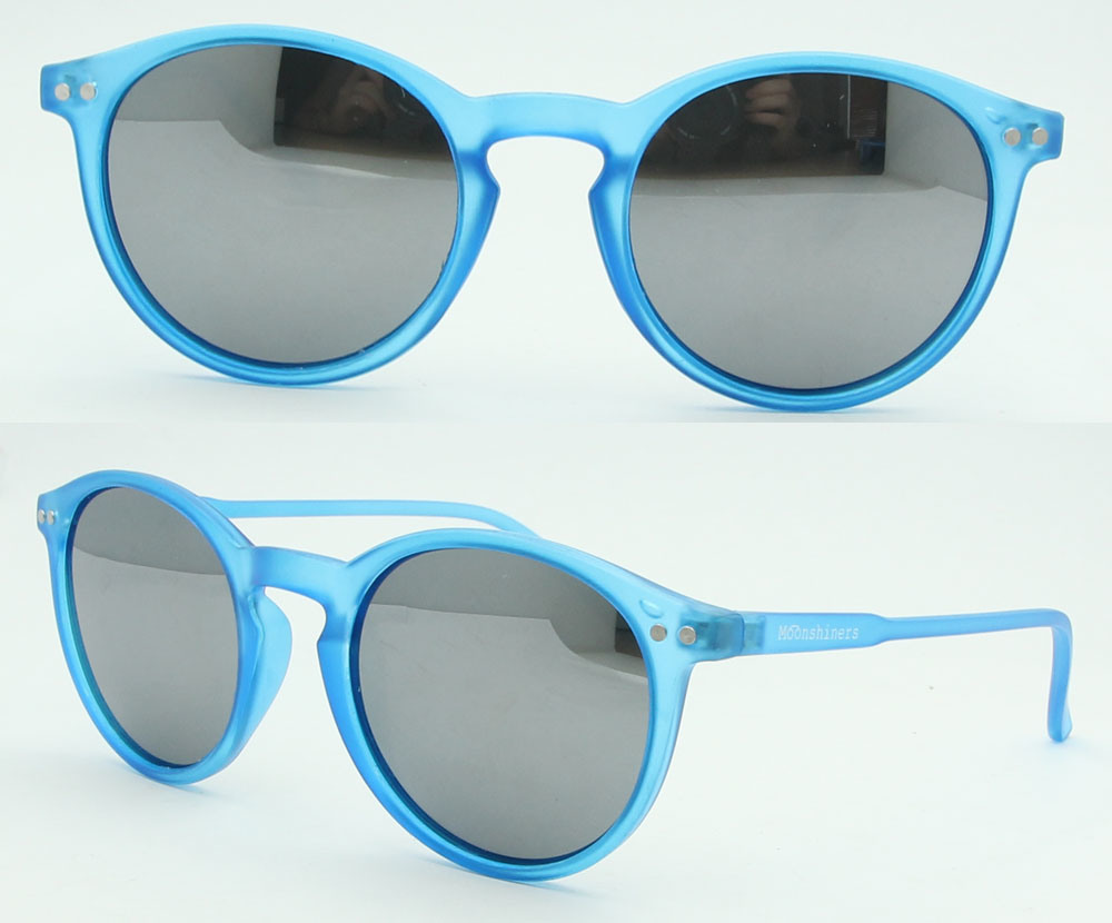 Custom Plastic Sunglasses, 2017 Fashion Round Shape Sunglasses (PS589)