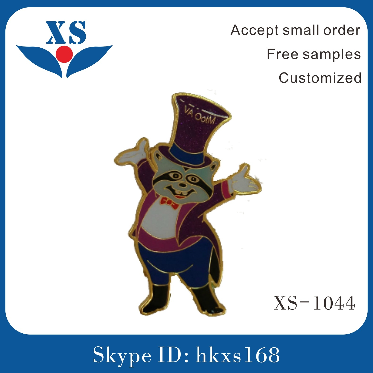 Wholesale Gold Plating Customized Metal Badge