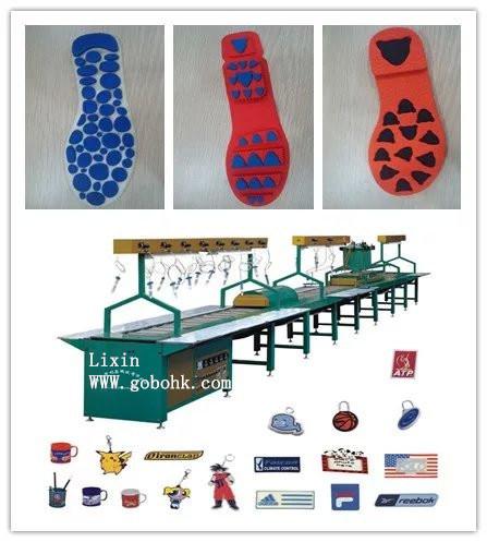Hot Sale Automatic PVC Shoe Sole Making Machine