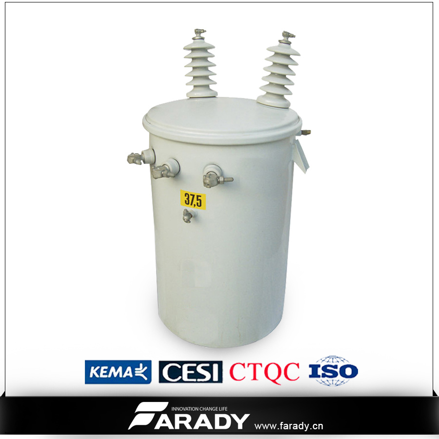 13.8kv 10kVA Single Phase Step Down Oil Transformer Conventional Type