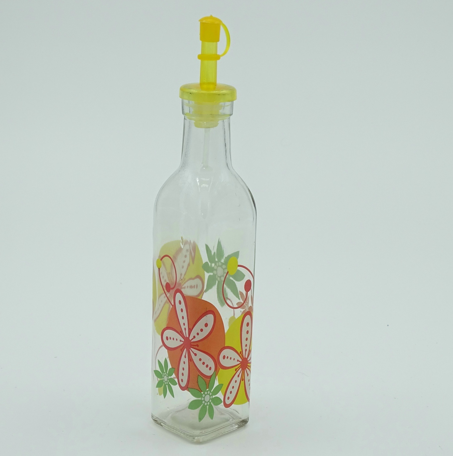 Glass Bottle in Kitchen for Storage Oil Vinegar