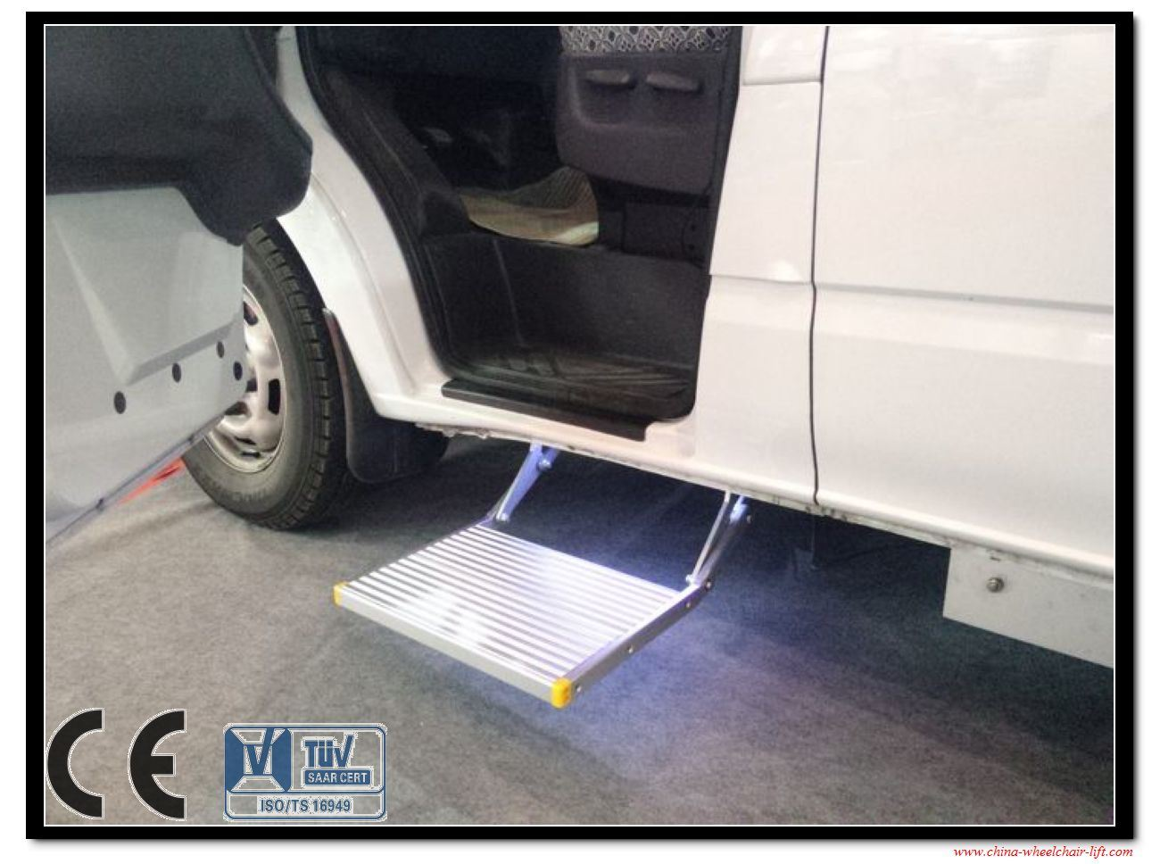 CE Electric Foldding Ladders and Electric Folding Steps for Caravan