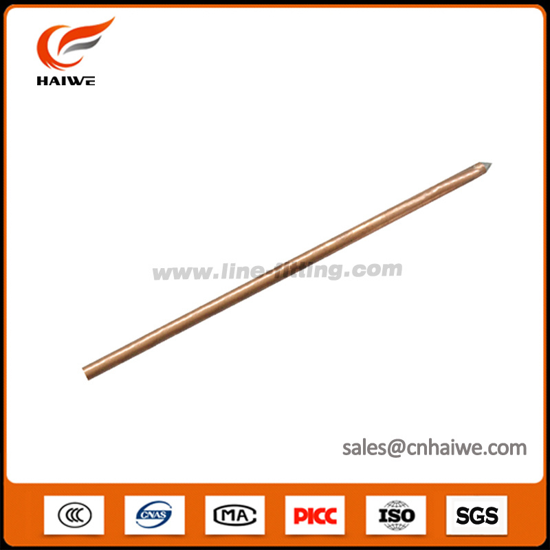 Copper Plated Threaded Ground Earthing Steel Rod with Lightning Production