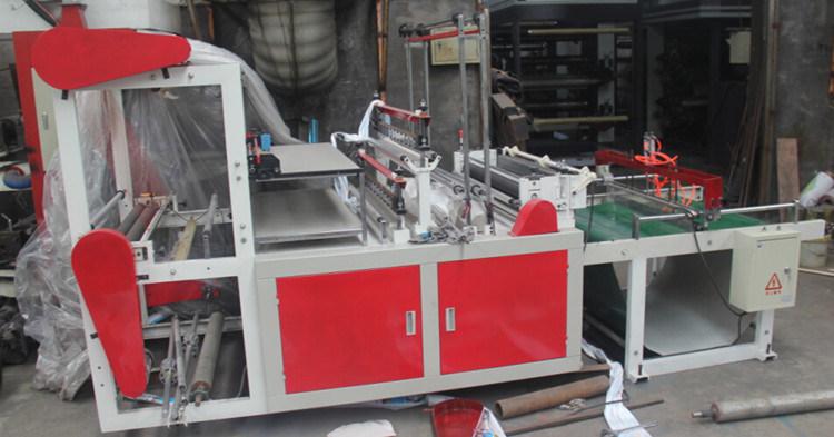 Heat Sealing and Cold Cutting Plastic Bag Making Machine