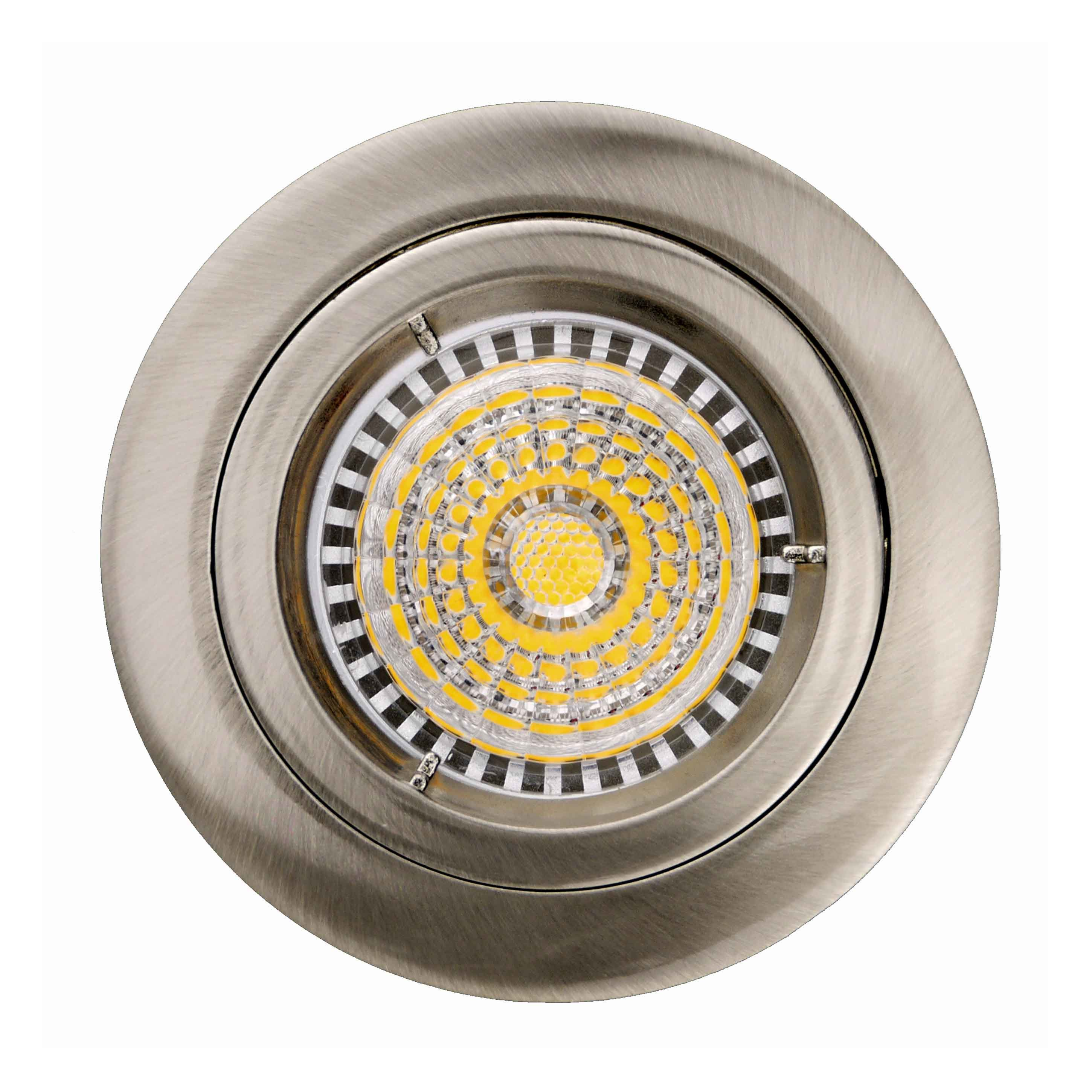 Die Cast Aluminum GU10 MR16 Fixed Recessed White Satin Nickel Round LED Light (LT1100)