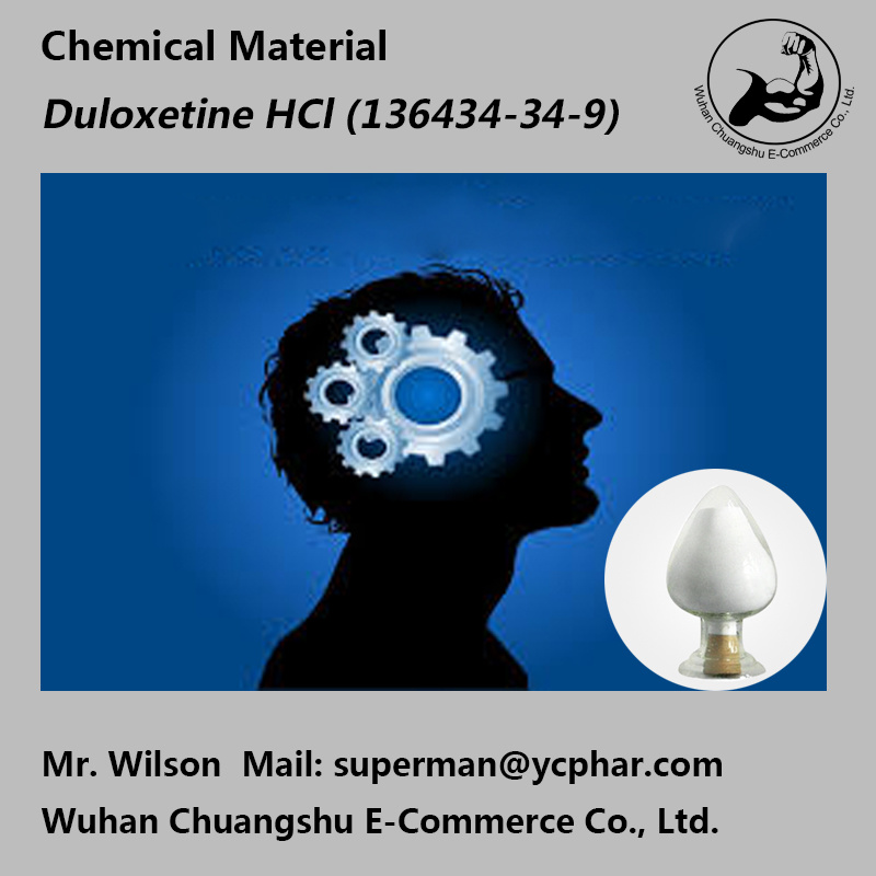 Chemical Material Antidepressant Drug Duloxetine HCl 136434-34-9