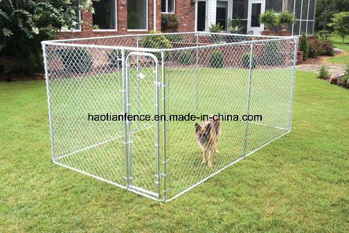 Large Chain Link Rolling Panel Kennel Crate