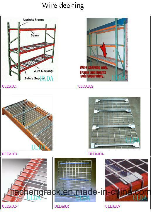 Flare Welded Galvanized or Powder Coated Metal Storage Wire Decking