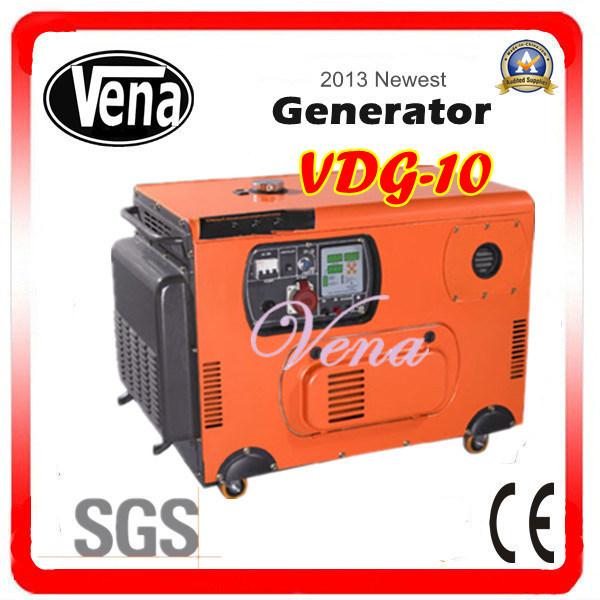 10 Kw Silent Diesel Generator Set Sound Proof Box Vdg-10