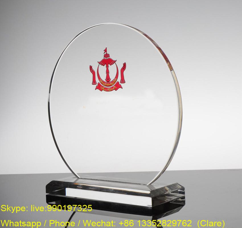 Cheap Acrylic Souvenir Trohpy Award Crafts with Customized Logo
