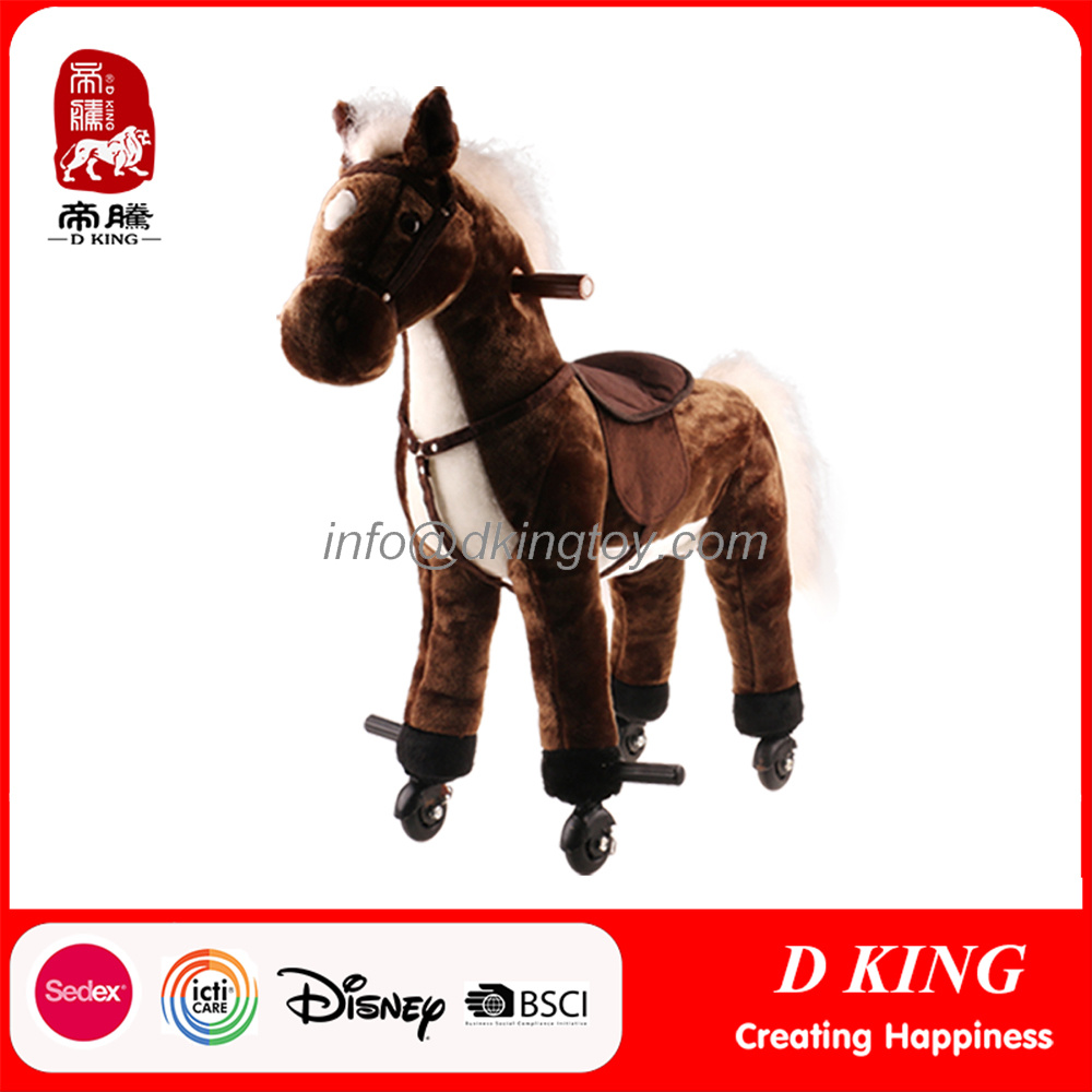 Walking Spring Rocking Horse Plush Toy