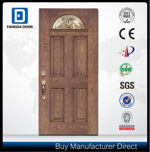 Fan Lite Energy Saving Sunproof Fiberglass Door