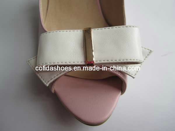 2014 New Designs of High Heels Women Shoes with Bow for Summer