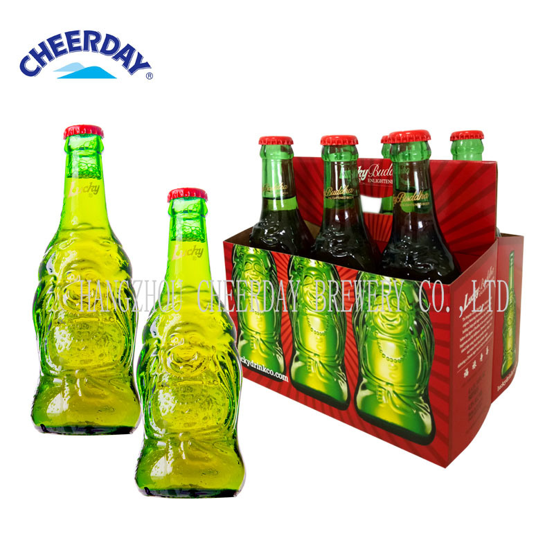 OEM Abv4.8% 330ml Trays Alcoholic Drinks Lucky Beer with Bottle