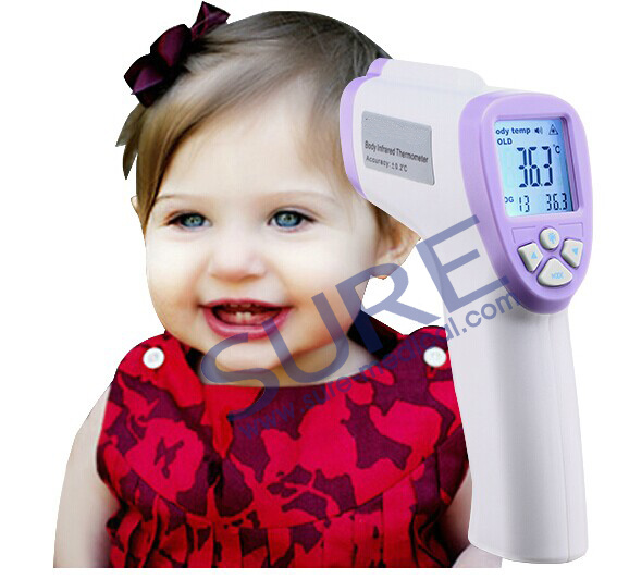Anti Ebola Virus Non-Contact Infrared Forehead Thermometer with High Accurate LED Backlight Display (SR-T1302)