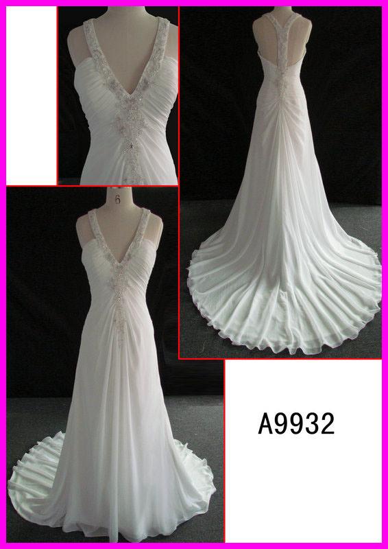 China 2014 guangzhou sexy halter chiffon column wedding for Guangzhou wedding dress market