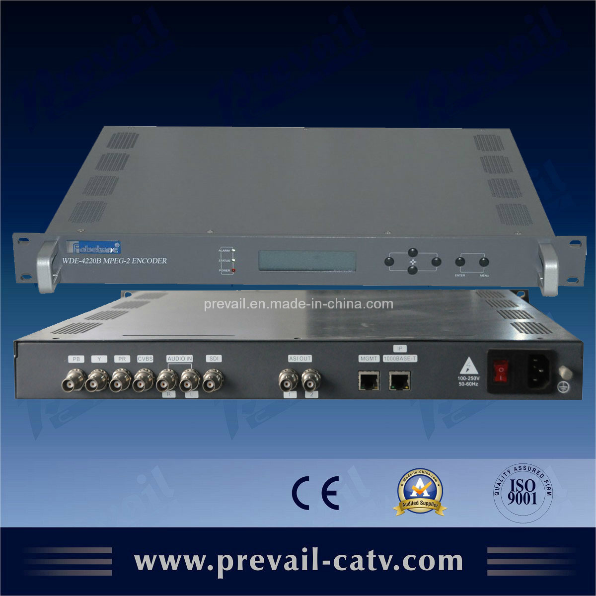 MPEG-2 Encoder with IP Output (WDE-4220B)