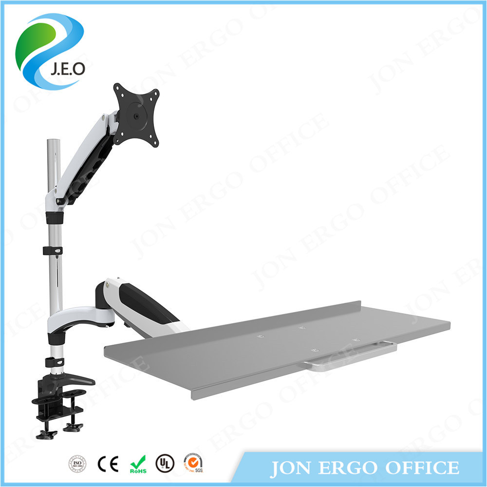 Gas Lifting Stand up Workstation/Monitor Mount with Keyboard (JN-WS01)