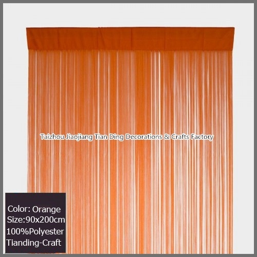 Polyester Outdoor Curtain with Grommets - Stripe Orange