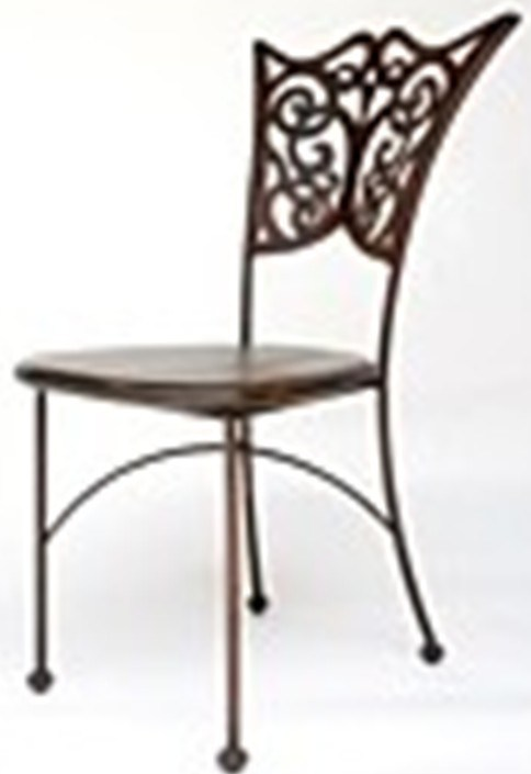 Indoor Wrought Iron Chairs - Rod Iron - Metal